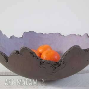 miska lawendowa skała , miska-ceramiczna, miska-jak-skała, nowoczesna-miska