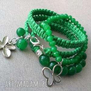 green set, bransoletki, zestaw, makrama, sznurek, pleciona, sznurkowa