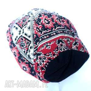 duża etno czapka przejsciówka, czapka, etno, wiosna, choroba, boho, cekiny