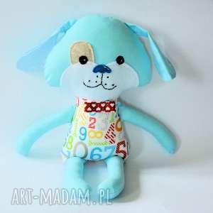 pies kejter - staś 44 cm, pies, cyferki, maskotka, chłopiec, przytulanka, urodziny