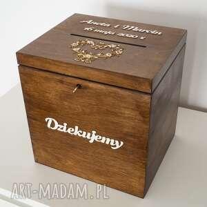 księgi gości pudełko na koperty - wysokie, pudełko, drewno