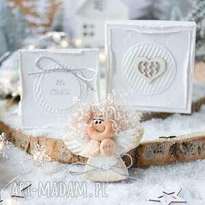 Pomysł na upominek! Świąteczny aniołek w pudełeczku, z kartką