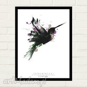 humingbird painted plakat 30x40, minimalizm dom