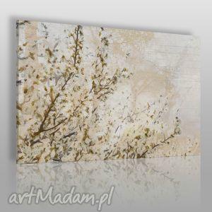 obraz na płótnie - drzewo wiśnia kwiaty 100x70 cm (20701/100x70)