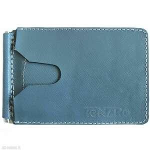 banknotówka, portfel skórzany granatowy