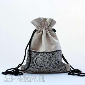 Prezent BBAG aksamit koronka plecak worek, plecak, prezent, elegancki