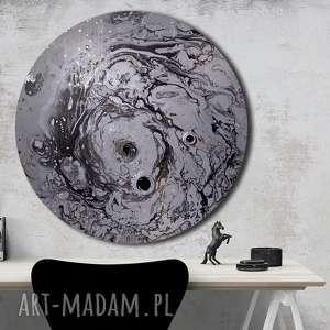 krajobraz księzycowy 19, planeta, księżyc, ziemia, niebo, wszechświat, tondo