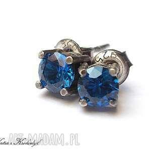 kropeczki cobaltowe - srebro, cyrkonie, sztyfty, drobne