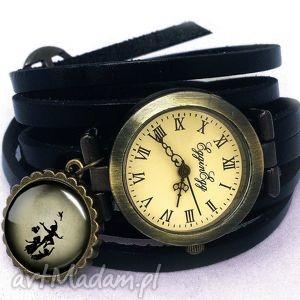 piotruś pan - zegarek bransoletka na skórzanym pasku