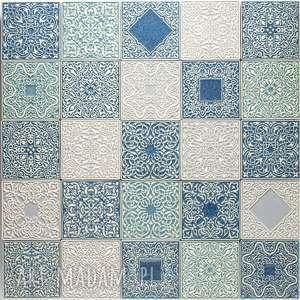 kafle ornamentowe mix trzech kolorów, kafle, dekory, arabeski, marokańskie