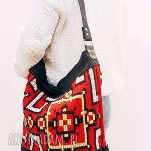 ręcznie wykonane torebki czerwona