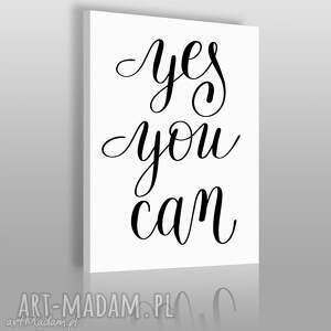 obrazy napis na płótnie - yes you can 50x70 cm 56823, obraz, napis, tekst