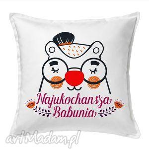 poduszka najukochańsza babunia, dzieńbabci, babcia, tekstylia, poduszki, dekoracje