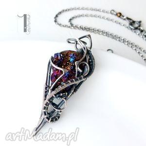 osobliwość - aurora i - naszyjnik z kwarcem tytanowym - srebro, kwarc, tytanowy