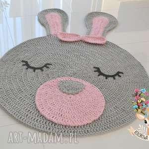 Dywan Misia Królisia 100cm uszy 50cm, dywan, królik, króliczek, miś, koło, owal