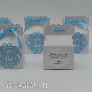 handmade zaproszenie pudełeczka podziękowania dla gości