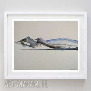 góry-akwarela formatu a5, akwarela, woda, papier, góry, abstrakcja