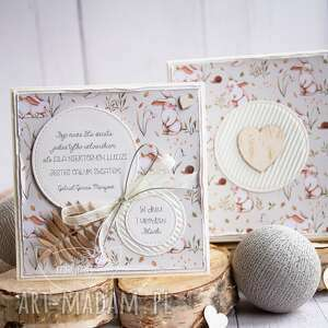 kartka w pudełeczku dla dziecka narodziny chrzest roczek urodziny