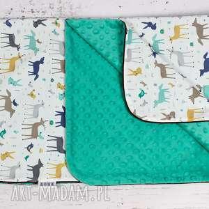 dla dziecka kocyk minky 75x100 leśne zwierzęta, kocyk, minky, niemowelę, łóżeczko