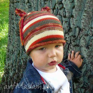 czapka przedszkolaka (wełna, chłopiec dziewczynka, jesień, druty)