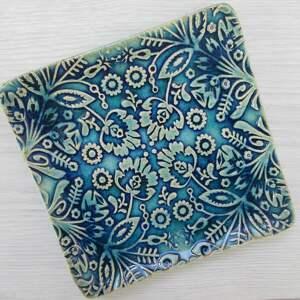folkowy dekoracyjny talerzyk, ceramiczny mały etniczny