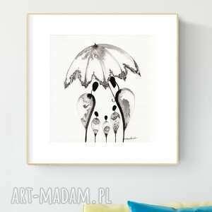 plakaty grafika 30x30 cm wykonana ręcznie, abstrakcja, obraz do salonu
