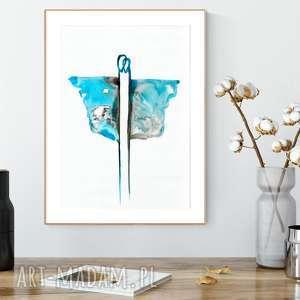 obraz malowany ręcznie 30 x 40 cm, abstrakcja, minimalizm, grafiki do