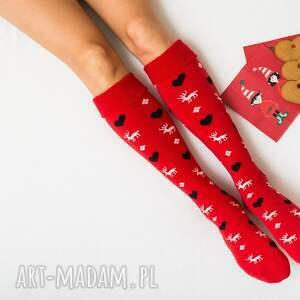 pomysł na świąteczny upominek Ciepłe Świąteczne Skarpetki Mikołajki Prezent Zimowe