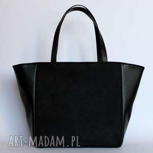 pomysł jaki prezent pod choinkę Shopper Bag Worek - czarny, elegancka, nowoczesna