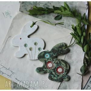 ręcznie wykonane ceramika zestaw zajączków
