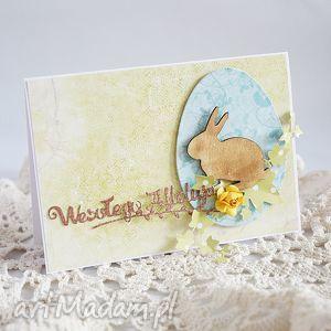 kartka z zajączkiem - wielkanoc, kartka, wielkanocna, wiosenna