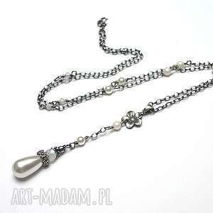 handmade naszyjniki perłowy kwiatuszek - naszyjnik