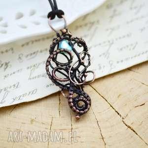 Prezent Blue pearl - naszyjnik z perłą rzeczną, naszyjnik-z-perłą
