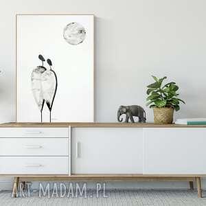 obraz ręcznie malowany 50 x 70 cm, grafika do salonu, abstrakcja, minimalizm