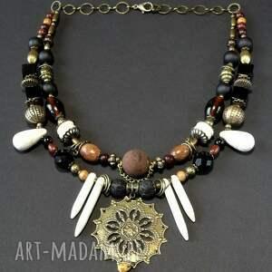 naszyjnik w etnicznym stylu unikat dla kochającej biżuterię oryginalną prezent