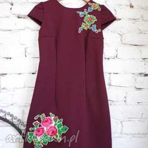 sukienka dzianinowa folk design aneta larysa knap, ubrania