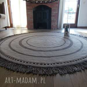 dywan camila ze sznurka bawełnianego, sznurka, okrągły