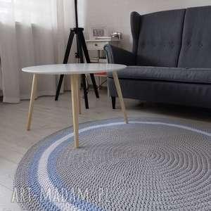 Okrągły dywan Foggy o średnicy 150 cm, dywan, zesznurka, skandynawski, dekoracja