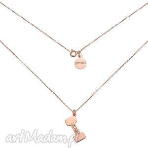 handmade naszyjniki naszyjnik z różowego złota ciężarek girl power