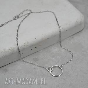 handmade naszyjniki srebrny naszyjnik z kółeczkiem 107