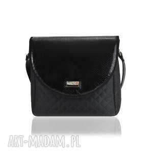 handmade torebki torebka puro classic 2501 black scales leather