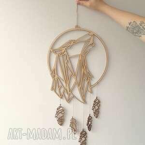 ręczne wykonanie dekoracje łapacz snów z geometryczną głową