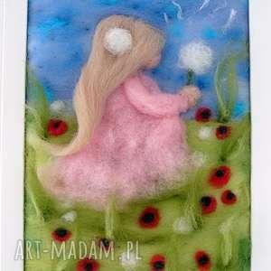 dziewczynka z dmuchawcem obraz z kolekcji die wunderschöne - rękodzieło