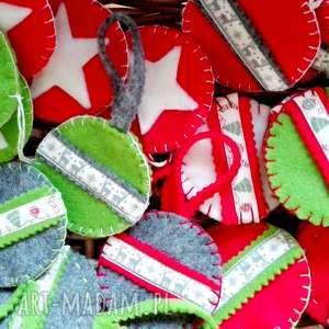 ozdoby świąteczne ozdoba z filcu na choinkę świąteczna zawieszka, ozdoba, bombka