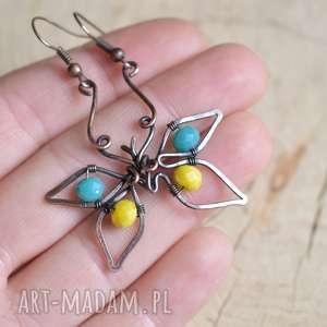 Upominek święta! Motyle - kolczyki z kryształkami pracownia
