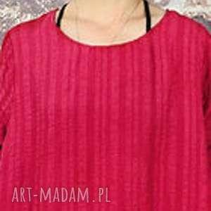 czerwona etniczna sukienka z koralikami, sukienka, puszysta, mama, etniczna, duża
