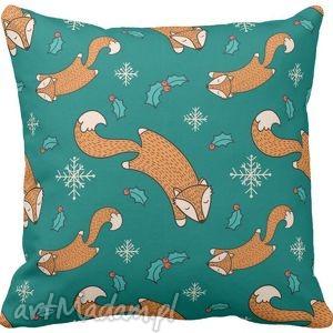 Poszewka na poduszkę dziecięca w liski lis 3026, lis, liski, lisek, rudy, poduszka