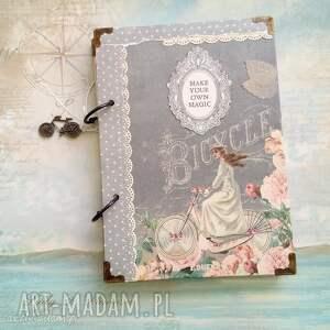 notes/pamiętnik / bicycle magic, retro, rower, dziewczyna, notes, stylowy, pamiętnik