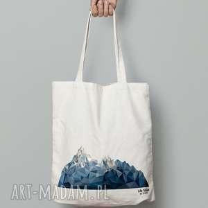 hand made torebki torba bawełniana z górami