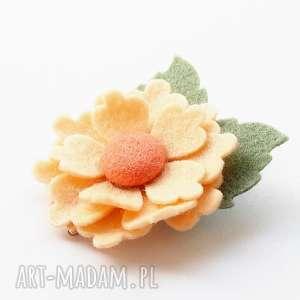 Spinka do włosów kwiatek ozdoby momilio art filc, dziewczynka